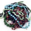 A handful of colored beads — Stock Photo