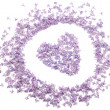 Heart with flowers of lilac — Stock Photo
