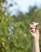 Soap balloons — Стоковое фото