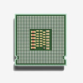 Microprocessor (3D). — Stock Photo