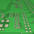 PCB, printed-circuit-board (3D). — Stock Photo #2995519