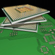 Processors on PCB. — Stock Photo #2995532