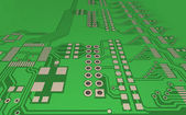 PCB, the printed-circuit-board (3D). — Stock Photo