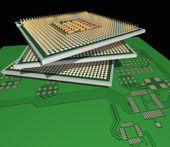 Processors on the PCB. — Stock Photo