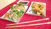 Specialities of the national Japanese cuisine. — Stock Photo