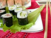 Sushi, rullar. — Stockfoto