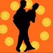 Vector illustrated dancing couple — Stock Photo
