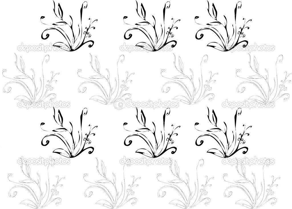 Vector illustrated floral background  Stock Vector #2814150