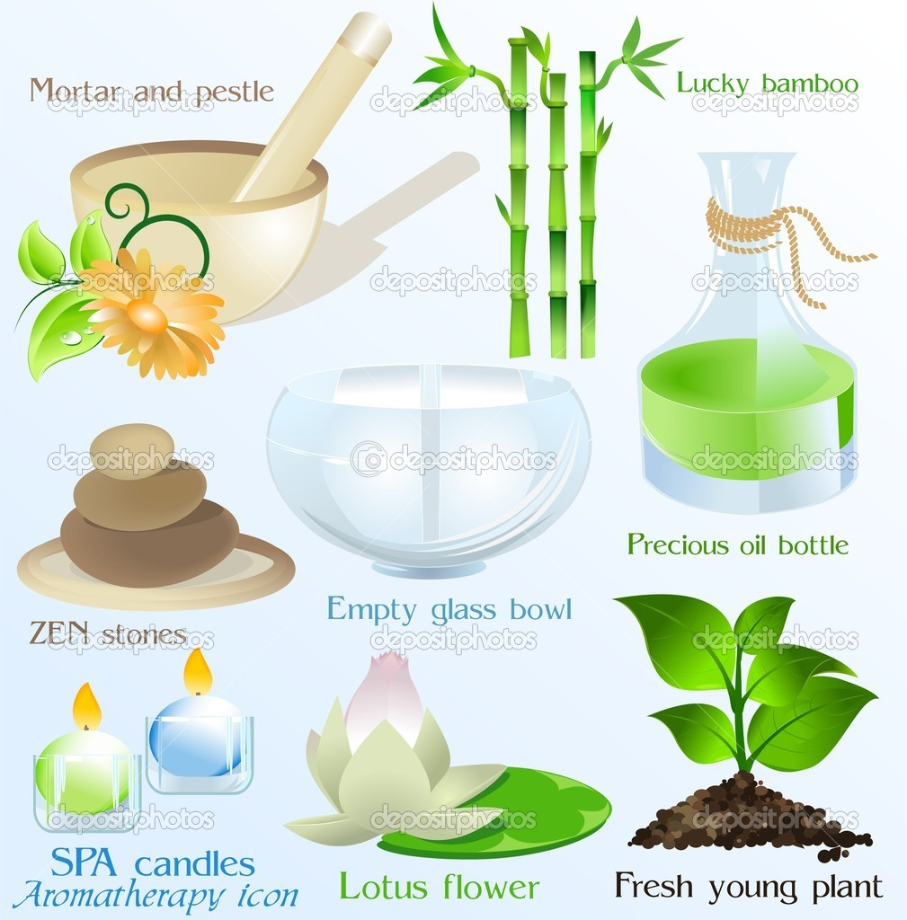 A vector set with SPA objects and symbols  Stock Vector #2842721