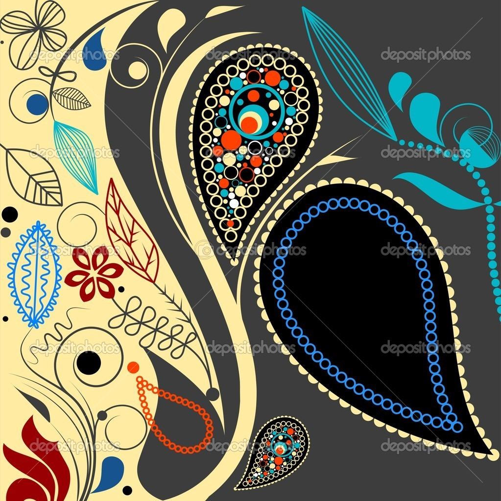 Decorative paisley motif with space for your text — Stock Vector #2871983