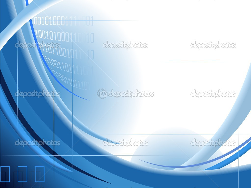 Abstract blue background with binary code   Image vectorielle #2881380
