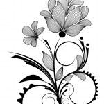 diseño floral de — Vector de stock