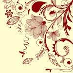 esquina floral Vector — Vector de stock