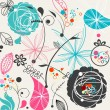 Royalty-Free Stock Imagen vectorial: Retro floral seamless pattern