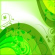 Abstract green background with plants - Imagen vectorial