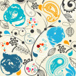 Floral seamless pattern - Stockvektor