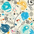 Floral seamless pattern - Stok Vektr