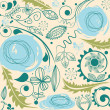 Floral pattern with dandelion motif - Vettoriali Stock 