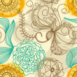 Vector de stock : Retro floral background