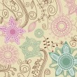 图库矢量图片: Retro floral background