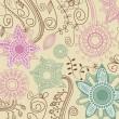 fondo floral retro — Vector de stock