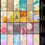 tarjetas verticales — Vector de stock