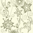 Graphic floral background — Stockvektor