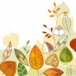 Autumn leaves background — Vector de stock