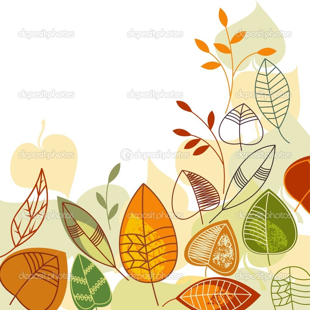 Autumnn leaves background with space for text — Stock Vector #3680945
