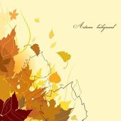 Autumn background — Stock Vector
