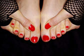Painted toe nails — Stock Photo