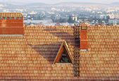 Old roof of a building — Stock Photo