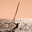 The sportsman on sailing board. - Stock Photo