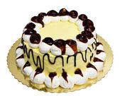 Cream cake with jam and cream — Stock Photo