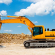 Yellow Excavator at Construction Site — Stock Photo #3409393