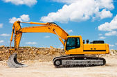 Yellow Excavator at Construction Site — Foto Stock