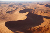 Sossusvlei dunes from the airplane — Stock Photo