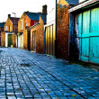 Cobbled Alley - Stock Photo