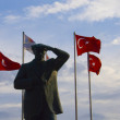 Turkish Flag - Monument — Stock Photo