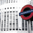 Underground Sign: London — Stock Photo