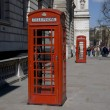 Stock Photo: Telephone boxes: London