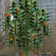 Traffic light sculpture - Stock Photo