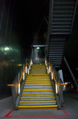Stairs to Dockland light railway: London — Stock Photo