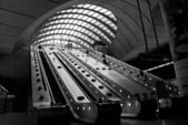 金丝雀码头地下: 伦敦 — 图库照片