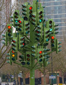 Traffic light sculpture — Stock Photo