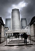 Canary Wharf tower: London — Stock Photo