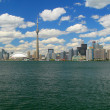 Toronto skyline from lake Ontario - Stock Photo