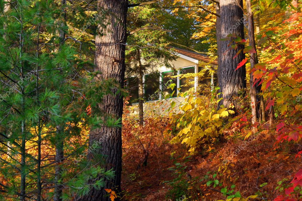 This is a cottage in the Muskoka region of Canada — Stock Photo #2705915