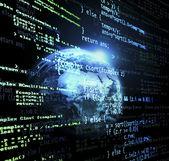Globale code — Stockfoto