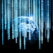 Stockfoto: Global binary code